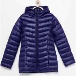 Pikowana kurtka z kapturem - Granatowy. Niebieskie kurtki i płaszcze dla dziewczynek Reserved. Za 69.99 zł.
