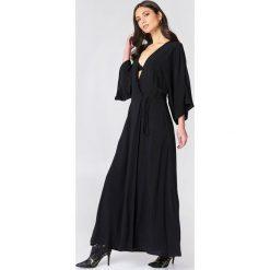 NA-KD Boho Sukienka-płaszcz - Black. Czarne płaszcze damskie NA-KD Boho, boho. Za 161.95 zł.