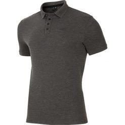 Koszulka polo męska TSM024 - chłodny jasny szar. Szare koszulki polo męskie 4f, z bawełny. W wyprzedaży za 59.99 zł.