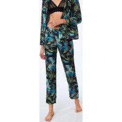Etam - Spodnie piżamowe. Szare piżamy damskie Etam, z materiału. Za 119.90 zł.