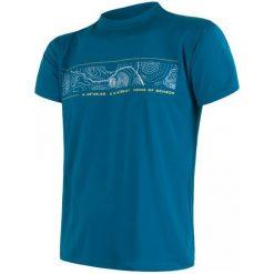 Sensor Koszulka Coolmax Fresh Pt Gps Blue Xl. Niebieskie koszulki sportowe męskie Sensor, z krótkim rękawem. W wyprzedaży za 120.00 zł.