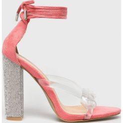 Public Desire - Sandały. Różowe sandały damskie Public Desire, z materiału. W wyprzedaży za 129.90 zł.