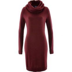 Sukienka dzianinowa z golfem bonprix czerwony klonowy. Sukienki damskie marki DOMYOS. Za 74.99 zł.