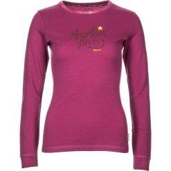 """Koszulka """"ConcordiaM."""" w kolorze różowym. Czerwone bluzki damskie Maloja, z aplikacjami, z wełny, z okrągłym kołnierzem, z długim rękawem. W wyprzedaży za 129.95 zł."""