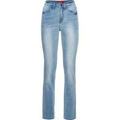 Bardzo miękkie dżinsy STRAIGHT bonprix jasnoniebieski. Jeansy damskie marki bonprix. Za 139.99 zł.