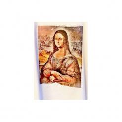 """T-shirt : """" Mona Lisa 2 """". Czarne t-shirty męskie Life is art, z nadrukiem, z klasycznym kołnierzykiem. Za 100.00 zł."""