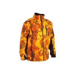 Kurtka myśliwska zimowa męska SIBIR 500 CAMO FLUO. Brązowe kurtki męskie SOLOGNAC, na zimę. W wyprzedaży za 119.99 zł.
