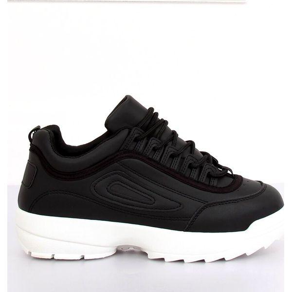 Buty sportowe czarne D1909 BLACKWHITE