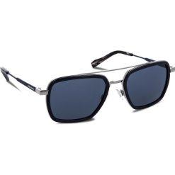 Okulary przeciwsłoneczne BOSS - 0306/S Blue PJP. Niebieskie okulary przeciwsłoneczne męskie Boss, z tworzywa sztucznego. W wyprzedaży za 459.00 zł.