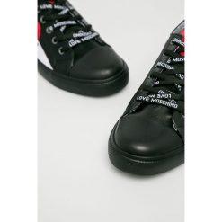 Love Moschino - Buty. Czarne obuwie sportowe damskie Love Moschino, z gumy. Za 739.90 zł.