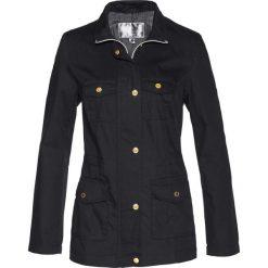 Kurtka Premium ze sznurowaniem, z bawełny kanwy bonprix czarny. Czarne kurtki damskie bonprix, z bawełny. Za 229.99 zł.