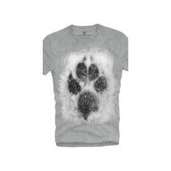 T-shirt UNDERWORLD Ring spun cotton Łapa. Szare t-shirty męskie Underworld, z nadrukiem, z bawełny. Za 59.99 zł.