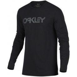 Oakley Koszulka Męska 100c-Mark Ii L/S Tee Blackout Xl. Czarne bluzki z długim rękawem męskie Oakley, z okrągłym kołnierzem. Za 135.00 zł.