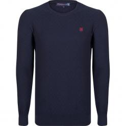 Sweter w kolorze granatowym. Niebieskie swetry przez głowę męskie Giorgio di Mare, z bawełny, z okrągłym kołnierzem. W wyprzedaży za 152.95 zł.