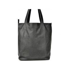 Duża skórzana torba Hobo. Szare torby na laptopa damskie Pracownia6-9, ze skóry. Za 250.00 zł.