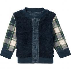 Dwustronny kardigan w kolorze niebiesko-szarym. Swetry dla chłopców marki Reserved. W wyprzedaży za 62.95 zł.