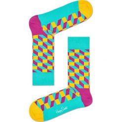 Happy Socks - Skarpetki Filled Optic. Szare skarpety damskie Happy Socks, z bawełny. W wyprzedaży za 29.90 zł.