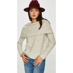 Only - Sweter. Szare swetry damskie Only, z dzianiny, z dekoltem w łódkę. Za 169.90 zł.