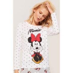 Koszulka piżamowa Minnie Mouse - Biały. Koszule nocne damskie marki MAKE ME BIO. Za 39.99 zł.