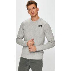 New Balance - Bluza. Szare bluzy męskie New Balance, z nadrukiem, z bawełny. W wyprzedaży za 169.90 zł.