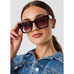 NA-KD Accessories Okulary przeciwsłoneczne Oversize Squared - Brown. Brązowe okulary przeciwsłoneczne damskie NA-KD Accessories. Za 72.95 zł.