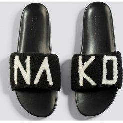 NA-KD Shoes Klapki NA-KD - Black. Czarne klapki damskie NA-KD Shoes, w paski. Za 100.95 zł.