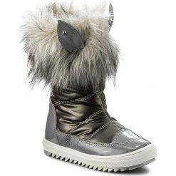 Śniegowce BARTEK - 24385-82GU Szary. Śniegowce dziewczęce Bartek, z lakierowanej skóry. W wyprzedaży za 179.00 zł.
