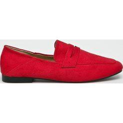 Answear - Mokasyny Lily Shoes. Czerwone mokasyny damskie ANSWEAR, z gumy. W wyprzedaży za 79.90 zł.