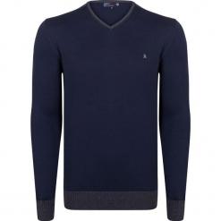 Sweter w kolorze granatowym. Niebieskie swetry przez głowę męskie Giorgio di Mare, z bawełny. W wyprzedaży za 152.95 zł.