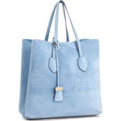 Torebka COCCINELLE - BH6 Celene Suede E1 BH6 11 01 01 Azur/Azur 021. Niebieskie torebki do ręki damskie Coccinelle, w ażurowe wzory, ze skóry. W wyprzedaży za 979.00 zł.