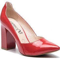 Półbuty CAPRICE - 9-22411-22 Red Patent 505. Czerwone półbuty damskie Caprice, ze skóry. Za 249.90 zł.