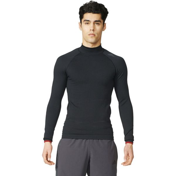 48c5079ab Adidas Koszulka męska Techfit Heat Long Sleeve Mock czarna r. M ...