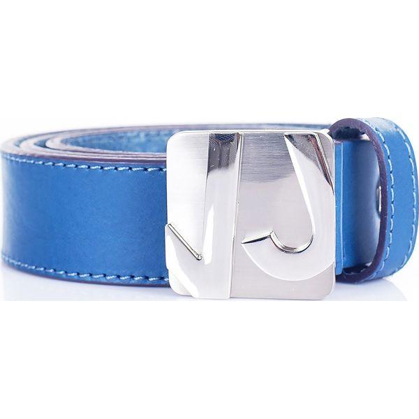 371c7b74387c8b Pasek skórzany - Niebieskie paski damskie Versace Jeans, bez wzorów ...