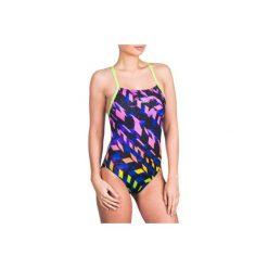 Strój jednoczęściowy pływacki Lidia Meda damski. Żółte kostiumy jednoczęściowe damskie NABAIJI. Za 99.99 zł.