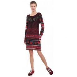 Desigual Sukienka Damska Naila M Burgund. Czerwone sukienki damskie Desigual. Za 599.00 zł.