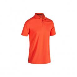 Koszulka polo do golfa 500 męska. Czerwone koszulki polo męskie INESIS, z bawełny. Za 39.99 zł.