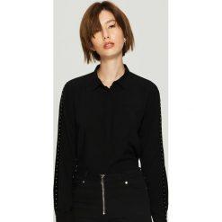 Koszula z lampasami - Czarny. Czarne koszule damskie Sinsay. Za 59.99 zł.
