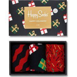 Happy Socks - Skarpetki Giftbox Christmas Melody (3-pack). Brązowe skarpety damskie Happy Socks. W wyprzedaży za 99.90 zł.