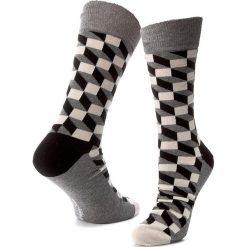 Skarpety Wysokie Męskie HAPPY SOCKS - FO01-901 Kolorowy Szary. Szare skarpety damskie Happy Socks, w kolorowe wzory, z bawełny. Za 34.90 zł.