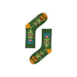 SKARPETKI W ZIELONE ŁODYGI. Zielone skarpety męskie Zooksy, w kwiaty. Za 22.00 zł.