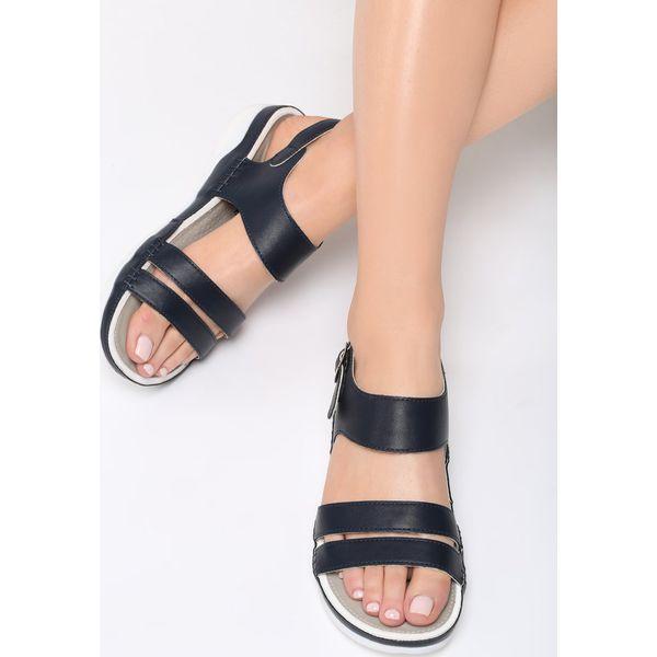 f880a6a5 Granatowe Sandały Your Life - Niebieskie sandały damskie marki ...