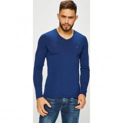 Tommy Hilfiger - Longsleeve. Niebieskie bluzki z długim rękawem męskie Tommy Hilfiger, z bawełny, polo. Za 159.90 zł.