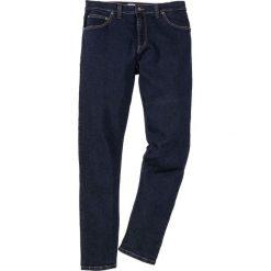 Dżinsy ze stretchem Slim Fit Straight bonprix ciemnoniebieski. Jeansy męskie marki bonprix. Za 99.99 zł.