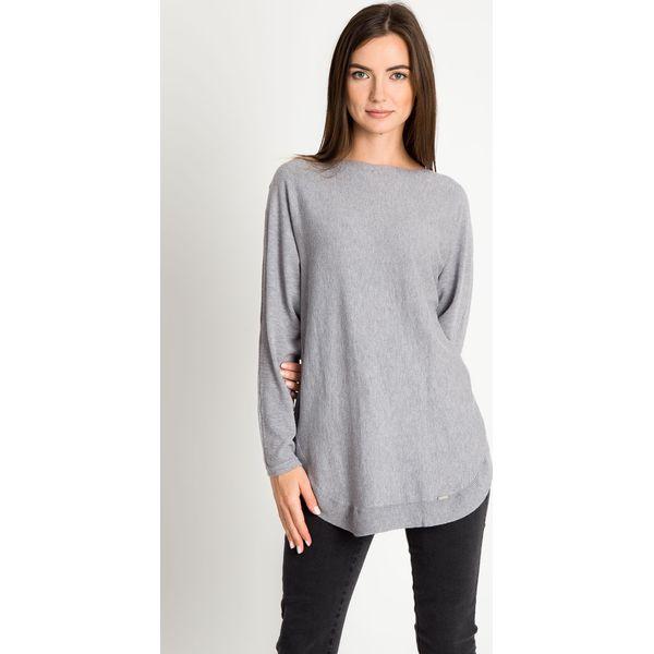 b7f0cf91 Szary sweter z ozdobnym tyłem QUIOSQUE