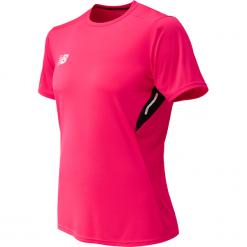 Koszulka treningowa MT732024AKK. Różowe koszulki sportowe męskie New Balance, na jesień, z materiału. Za 99.99 zł.