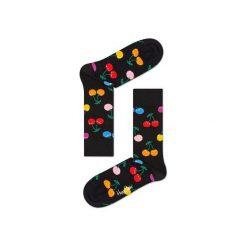 Skarpetki Happy Socks - Vitamins (CHE01-9002). Szare skarpety męskie Happy Socks, w kolorowe wzory, z bawełny. Za 34.90 zł.