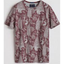 T-shirt z leśnym printem - Bordowy. Czerwone t-shirty męskie Reserved. Za 49.99 zł.