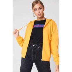 NA-KD Basic Bluza basic z kapturem - Yellow. Żółte bluzy damskie NA-KD Basic. Za 72.95 zł.