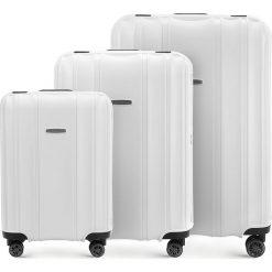 Zestaw walizek 56-3T-73S-88. Szare walizki damskie Wittchen. Za 722.61 zł.