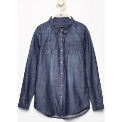 Jeansowa koszula - Granatowy. Niebieskie bluzki dla dziewczynek Reserved, z jeansu. Za 49.99 zł.
